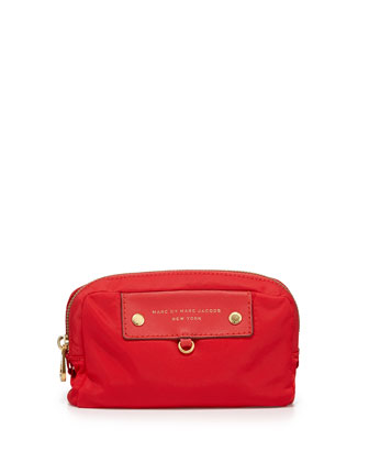 Preppy Nylon Madlan Cosmetic Case, Cambridge Red