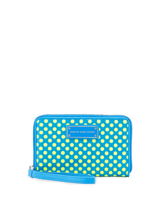 Techno Mesh Wingman Wristlet Wallet, Electric Blue