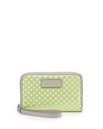 Techno Mesh Wingman Wristlet Wallet, Opal Gray Multi