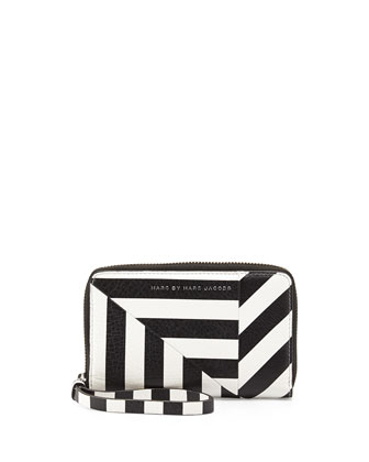 Turn Around Striped Wingman Zip Wallet