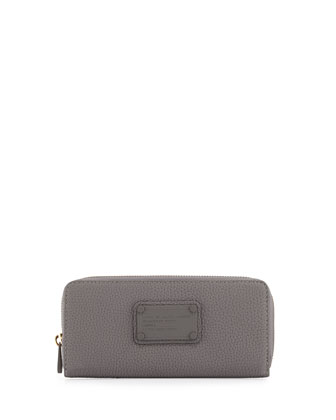 Electro Q Slim Zip-Around Wallet, Cylinder Gray