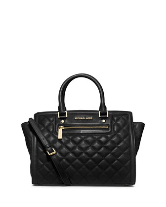 Large Selma Top-Zip Satchel