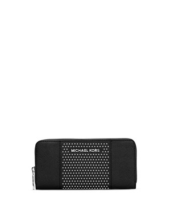 Studded Zip-Around Continental Wallet