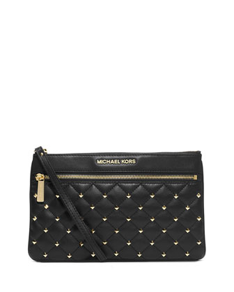 Large Studded Zip Satchel