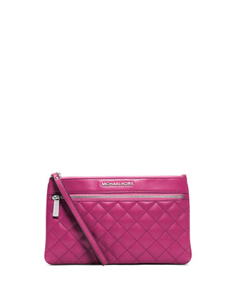 Large Selma Quilted Zip Clutch