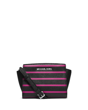 Mini Selma Striped Messenger