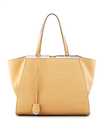 Personalized Trois-Jour Grande Leather Tote Bag, Yellow