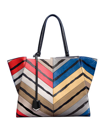 Personalized Trois-Jour Snakeskin Grande Tote Bag, Multicolor