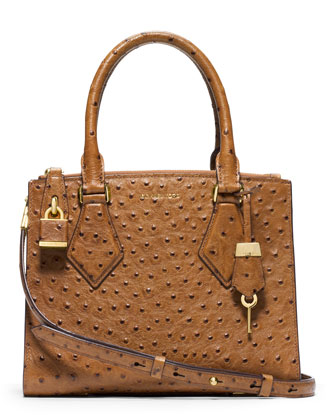 Small Casey Ostrich Satchel