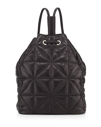 Avery Quilted Lambskin Backpack, Black