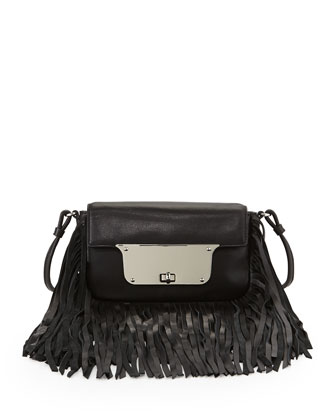 Isabella Fringe Crossbody Bag, Black