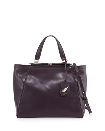440 Runaway Leather Tote Bag, Aubergine
