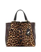 440 Runway Tote Bag, Leopard/Mahogany