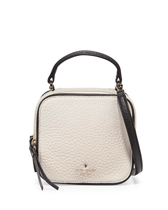 cecil court bobi zip satchel bag, pebble/black