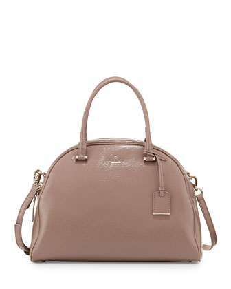 cedar street pearl domed satchel bag, rosewater