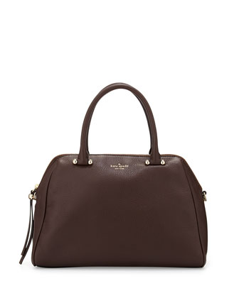 charles street brantley satchel bag, dark n stormy