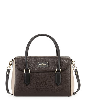 grove court leslie small tote bag, ebony/black