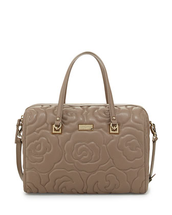 sedgwick lane kensey quilted satchel bag, warm putty