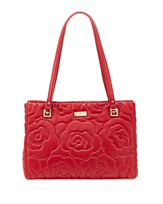 sedgwick lane small rose phoebe tote bag, dynasty red