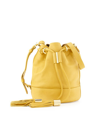 Vicki Small Bucket Bag, Bamboo
