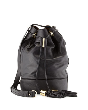Vicki Large Bucket Bag, Black