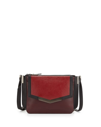 Affine Small Leather Shoulder Bag, Cherry Multi