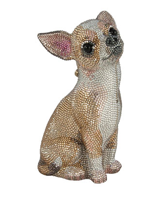 Chihuahua Crystal Minaudiere, Champagne Multi