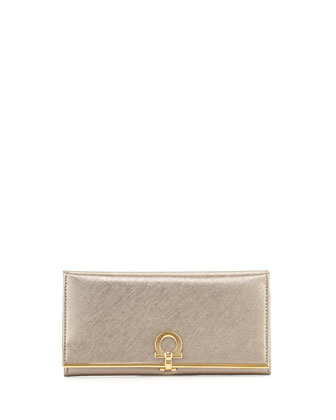 Icona Continental Flap Wallet, Oro