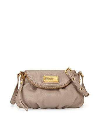 Classic Q Mini Natasha Flap Crossbody Bag, Cement