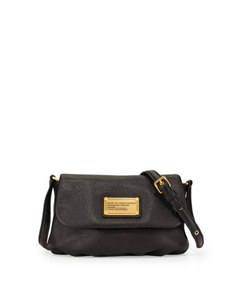 Classic Q Percy Flap Crossbody Bag, Black