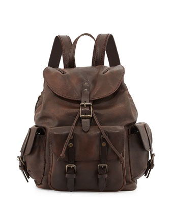 Veronica Leather Backpack, Maple