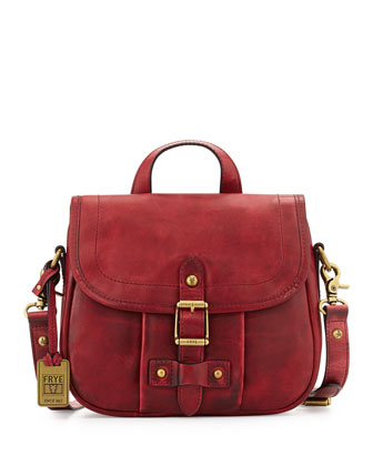 Parker Leather Crossbody Bag, Burgundy