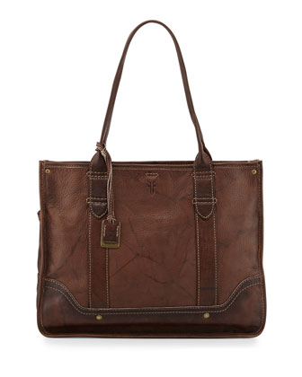 Campus Leather Shopper Bag, Walnut