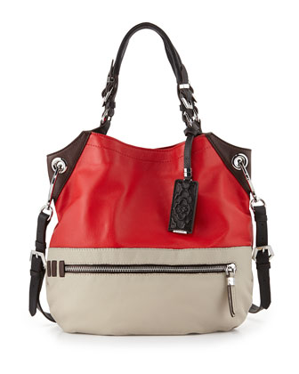 Sydney Colorblock Tote Bag, Berry Multi