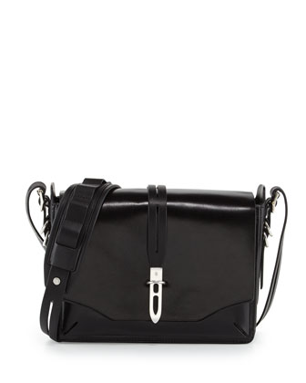 Enfield Mini Leather Shoulder Bag, Black