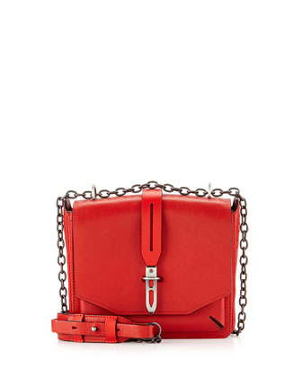 Enfield Mini Envelope Flap Top Shoulder Bag, Royal Red