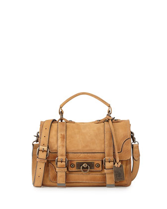 Cameron Small Leather Satchel Bag, Natural