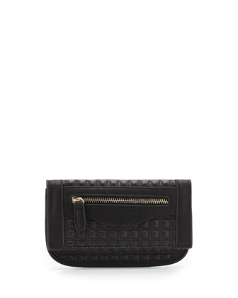 Billy Quilted Faux-Leather Wallet, Black