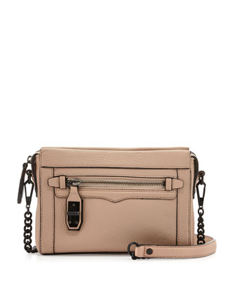Crosby Turn-Lock Crossbody Bag, Latte