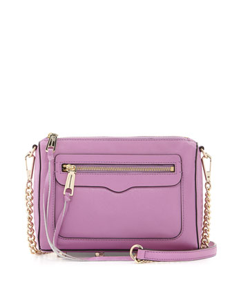 Avery Saffiano Crossbody Bag, Freesia
