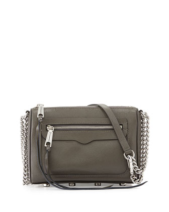 Avery Saffiano Crossbody Bag, Charcoal
