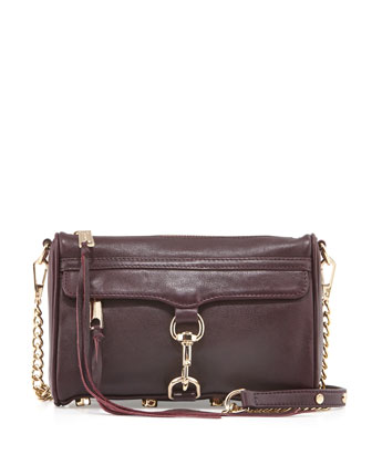 Mini MAC Crossbody Bag, Black Cherry