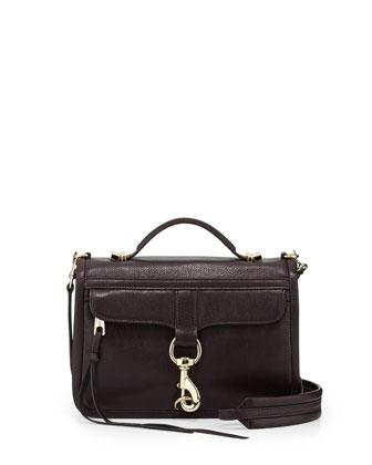 Bowery Flap-Top Crossbody Bag, Black Cherry
