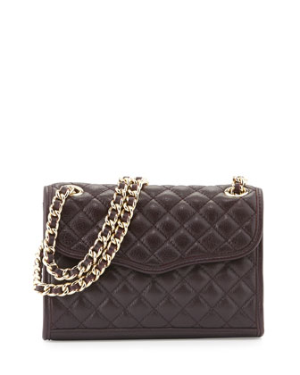 Quilted Affair Mini Shoulder Bag, Black Cherry