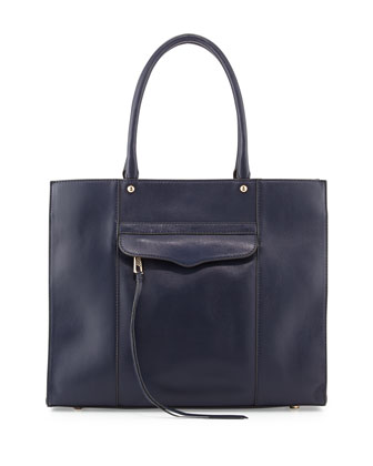MAB Medium Leather Tote Bag, Ink