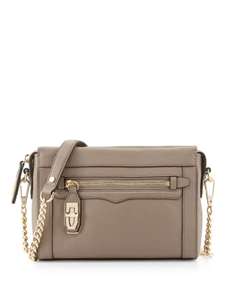 Crosby Turn-Lock Crossbody Bag, Taupe