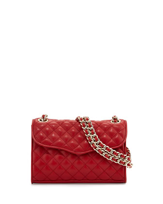 Quilted Affair Mini Shoulder Bag, Crimson