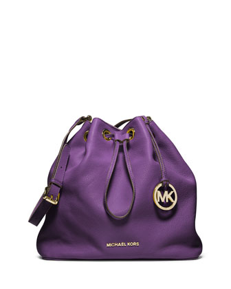 Large Jules Drawstring Shoulder Bag, Violet