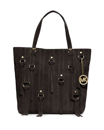 Large Presley Tassel Tote, Coffee