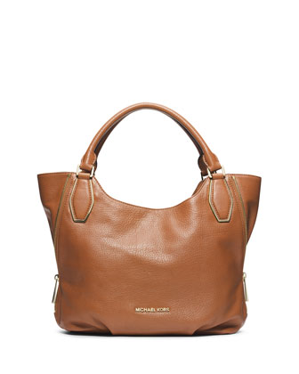 Medium Vanessa Shoulder Tote, Luggage
